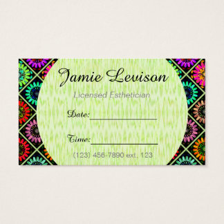 Specialist Appointment Card/ U-pick Color/Flowers Business Card