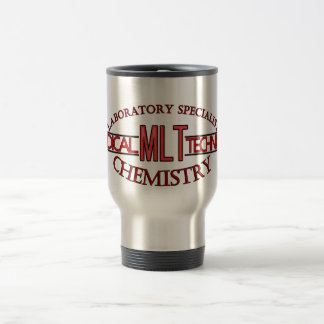 SPECIALIST  MLT CHEMISTRY MEDICAL LABORATORY TECH STAINLESS STEEL TRAVEL MUG