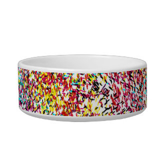 Speckle Of Colors Ceramic Pet Bowl