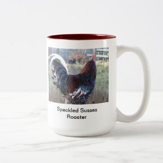 Speckled Sussex Rooster Coffee Mug