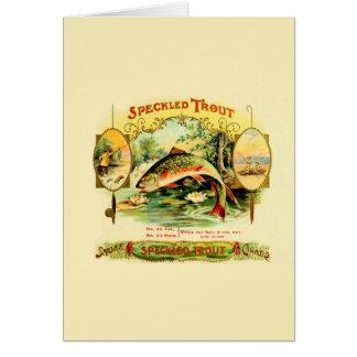 Speckled Trout Vintage Art Card