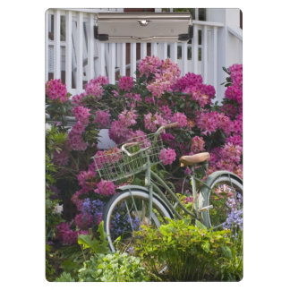 Spectacular spring bloom, whimsical antique clipboard