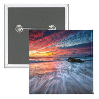 Spectacular Sunset | Stone Beach, El 15 Cm Square Badge
