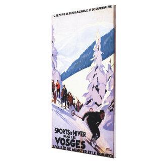Spectators Watching Skier Poster Canvas Print
