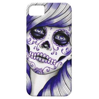 Spectrum Series - Violet Sugar Skull Girl iPhone 5 Cover