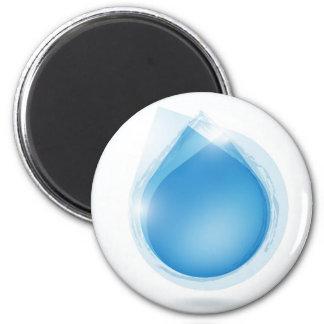 speech bubble from blue water drop magnet