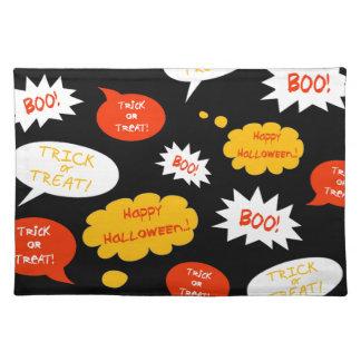 speech bubble halloween place mats