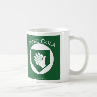 speed cola basic white mug