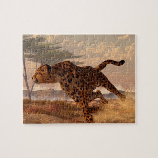 Speeding Cheetah Jigsaw Puzzle
