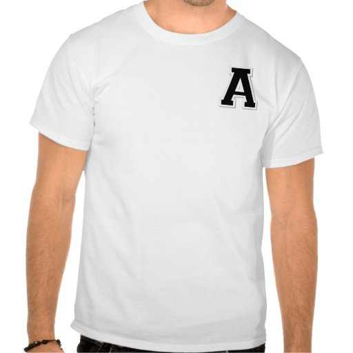 Spell it Out Initial Letter A Black Henley shirt
