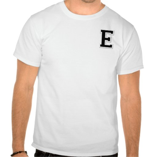 Spell it Out Initial Letter E Black Henley shirt