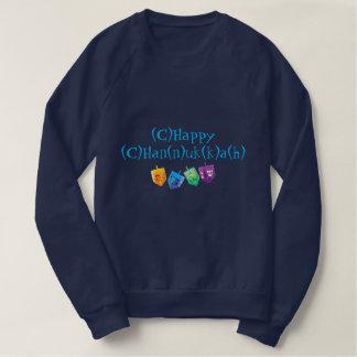 Spelling Chanukah Shirt with Dreidels