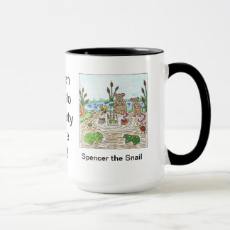 Spencer the Snail Party by the Pond Mug
