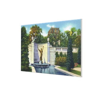Spencer Trask Memorial Fountain View Canvas Print