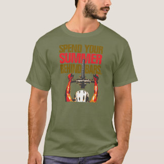 Spend your summer behind bars - mountain bike T-Shirt