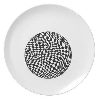 Sphere Melamine Plate