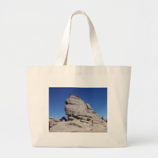 Sphinx from Bucegi Mts, Romania cool megalith Large Tote Bag