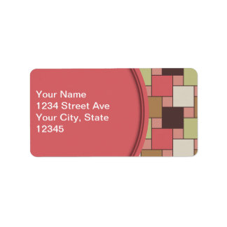 Spice Cabinet Geometric Address Label