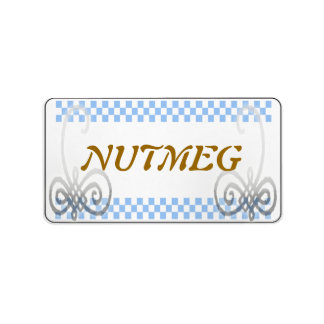 spice label blue address label