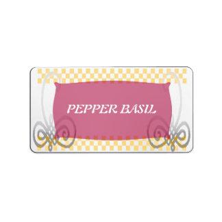 spice label fancy address label