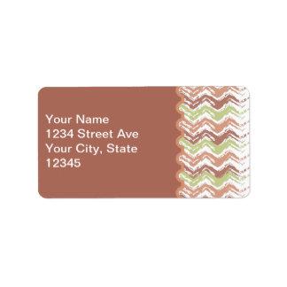 Spice Scribble Chevron ZigZag Address Label