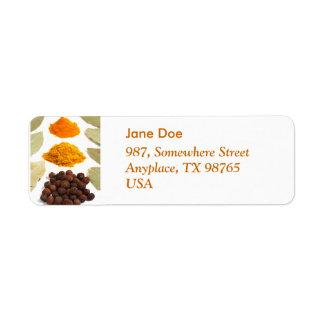 Spices Return Address Label
