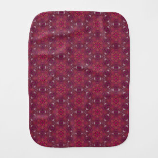 Spider Fangs Berry Red Baby Burp Cloth