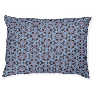 Spider Fangs Blue Gray Pet Bed