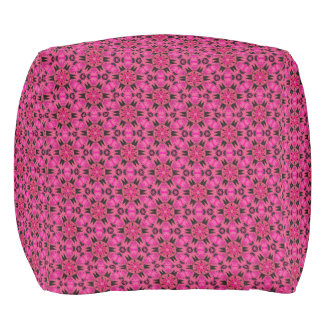 Spider Fangs Hot Pink Cubed Pouf