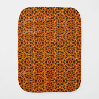 Spider Fangs Orange Gold Baby Burp Cloth