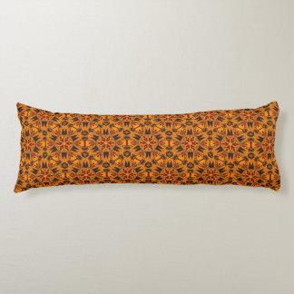 Spider Fangs Orange Gold Body Pillow