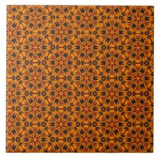 Spider Fangs Orange Gold Ceramic Tile