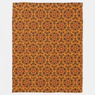 Spider Fangs Orange Gold Fleece Blanket