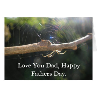 Spider Fathers Day Gift Card