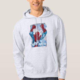 Spider-Man Breaking Glass Hooded Pullover