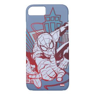 Spider-Man & City Sketch iPhone 8/7 Case