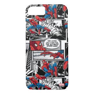 Spider-Man Comic Panel Pattern iPhone 8/7 Case