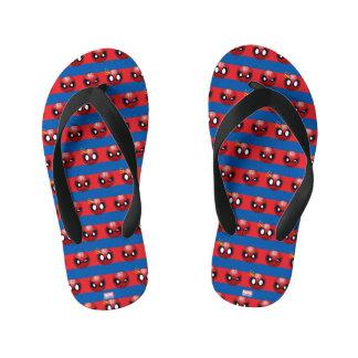 Spider-Man Emoji Stripe Pattern Thongs