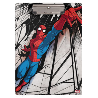 Spider-Man In Abstract City Clipboard