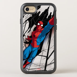 Spider-Man In Abstract City OtterBox Symmetry iPhone 8/7 Case
