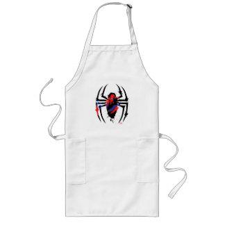 Spider-Man in Spider Shaped Ink Splatter Long Apron