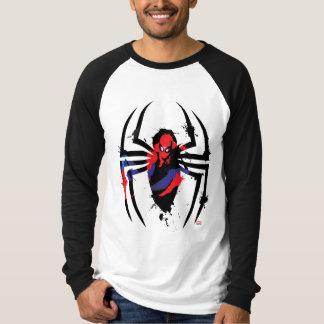 Spider-Man in Spider Shaped Ink Splatter Tee Shirt