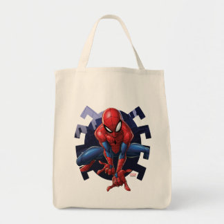 Spider-Man Leaping Out Of Spider Graphic Tote Bag