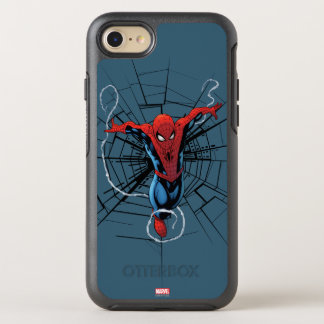 Spider-Man Leaping With Webbing OtterBox Symmetry iPhone 7 Case