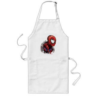 Spider-Man Sketched Marker Drawing Long Apron