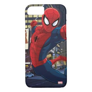 Spider-Man Web Slinging Through Traffic iPhone 8/7 Case