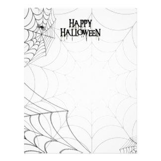 Spiderwebs And Happy Halloween Creepy Text Flyer