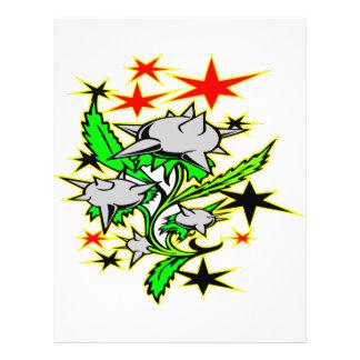 Spike Mace Plant Tattoo 21.5 Cm X 28 Cm Flyer