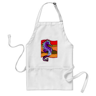Spiked Purple Seahorse Standard Apron
