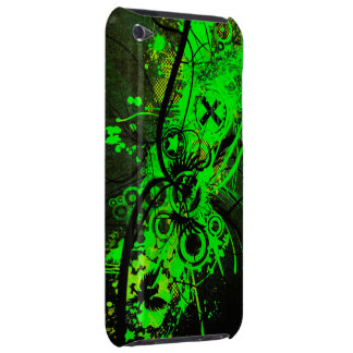 spilled radioactive green color abstract art iPod Case-Mate case